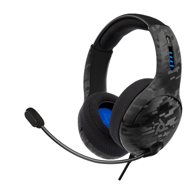 LVL50 Wired Stereo Gaming Headset: Black Camo