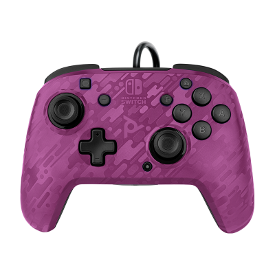 Faceoff Deluxe+ Audio Wired Controller - Purple Camo