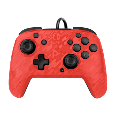 Faceoff Deluxe+ Audio Wired Controller - Red Camo