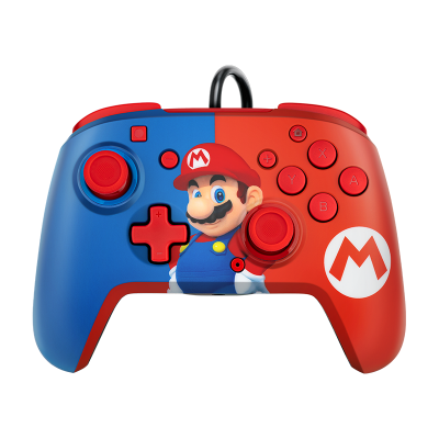 Faceoff Deluxe+ Audio Wired Controller: Power Pose Mario
