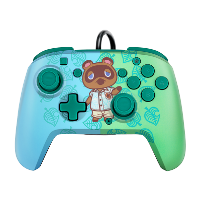 Faceoff Deluxe+ Audio Wired Controller: Animal Crossing Tom Nook