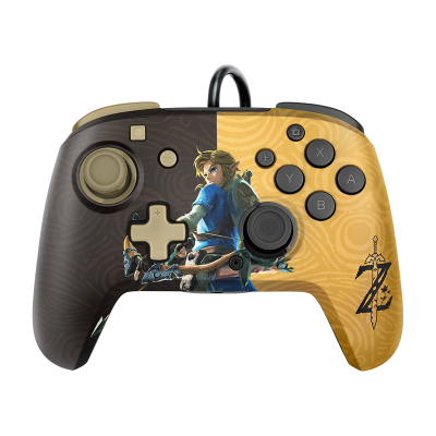 Faceoff Deluxe+ Audio Wired Controller: Hyrule Hero Link