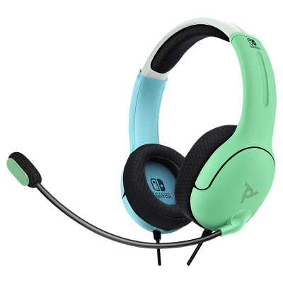 LVL40 Wired Stereo Gaming Headset: Aloha Blue & Green