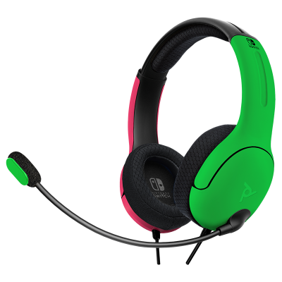 LVL40 Wired Stereo Gaming Headset: Neon Splat