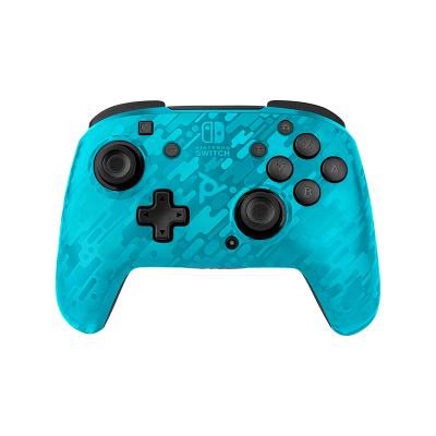 Faceoff Wireless Deluxe Controller - Neon Blue Camo