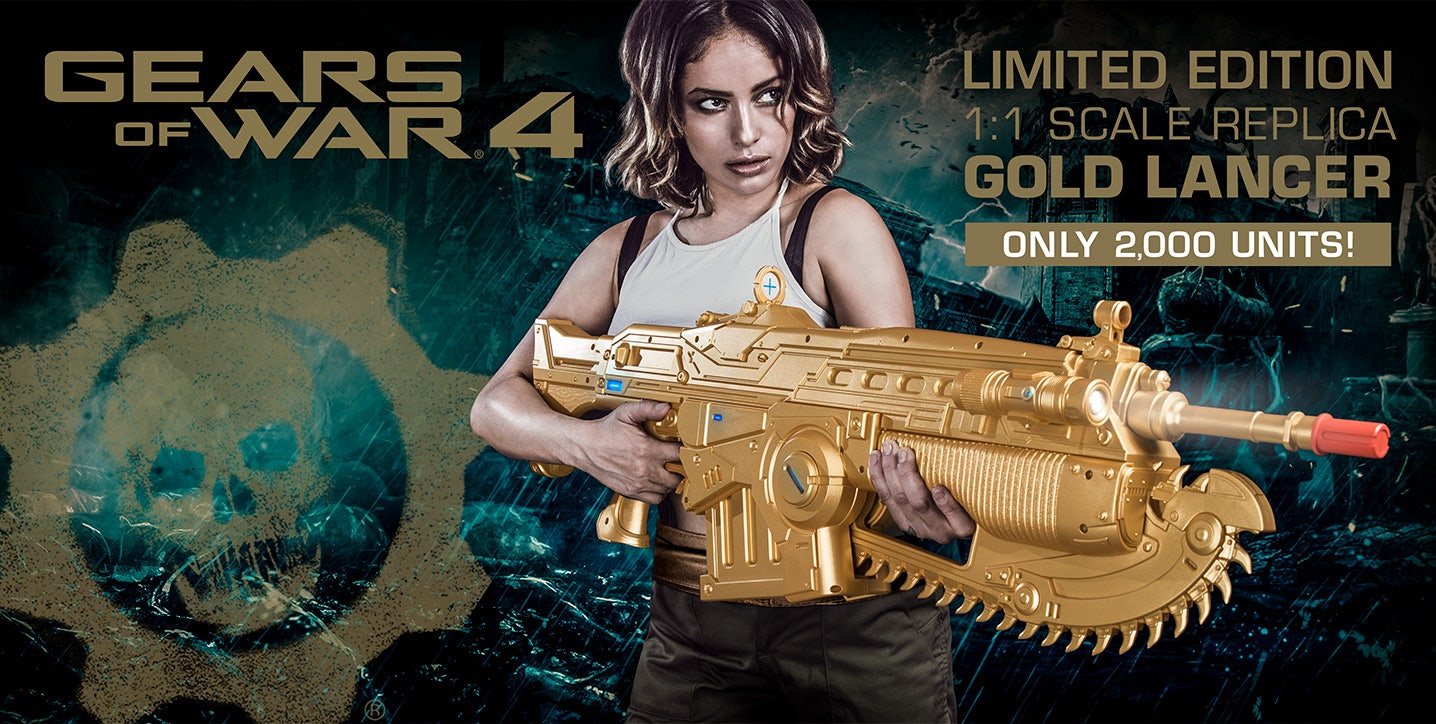Product Spotlight: Limited Edition Gears of War 4 Gold Lancer