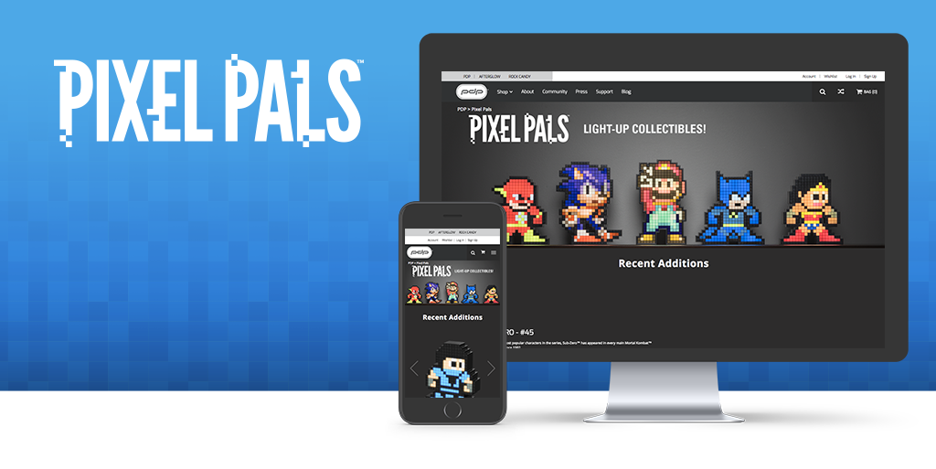 Our Brand New Pixel Pals™ Landing Page is Now Live!