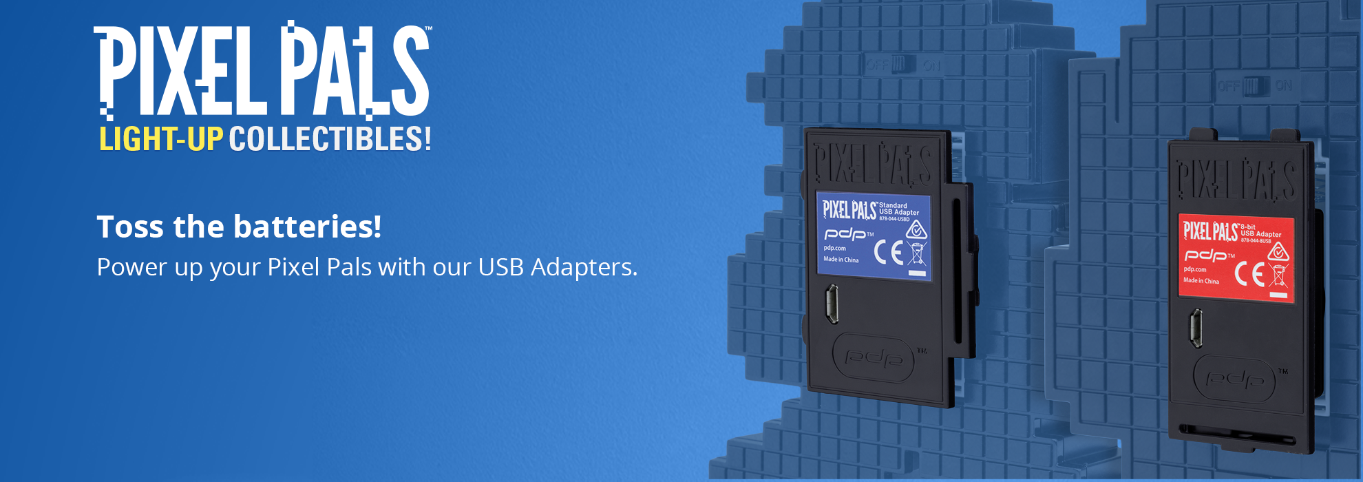 Toss Your Batteries—Use Pixel Pals™ USB Adapters!