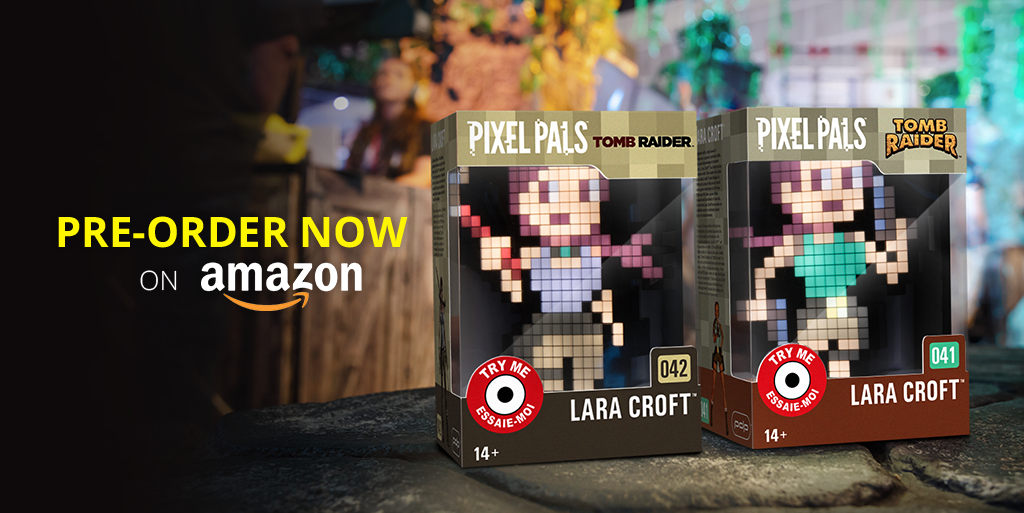 Ready for an Adventure? Pre-Order Lara Croft Pixel Pals™ Now!