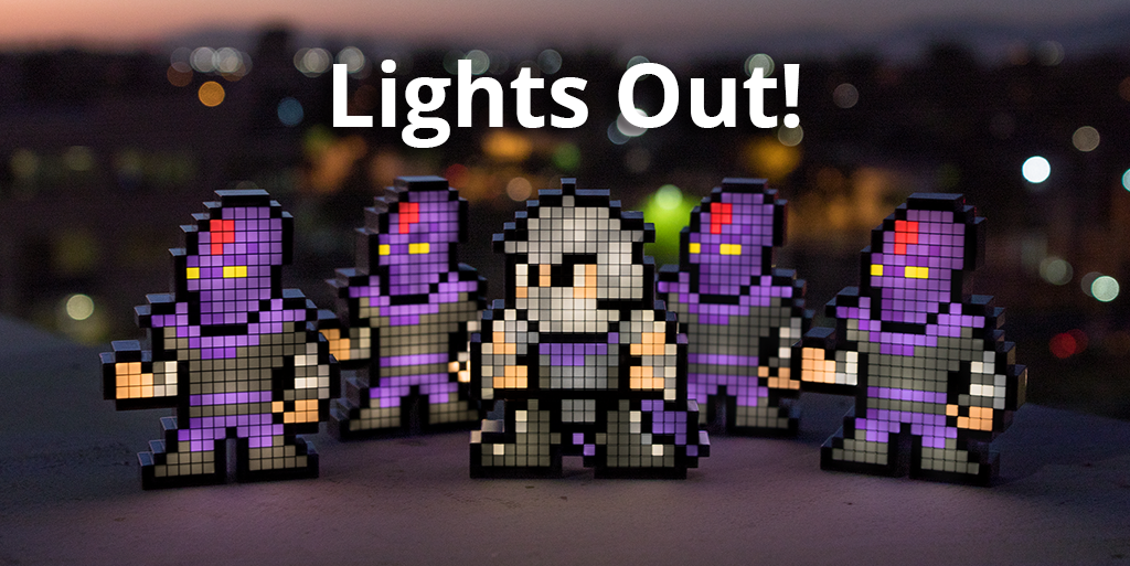 It's Lights Out for Shredder and Foot Soldier Pixel Pals™! Grab Yours Before They're Gone