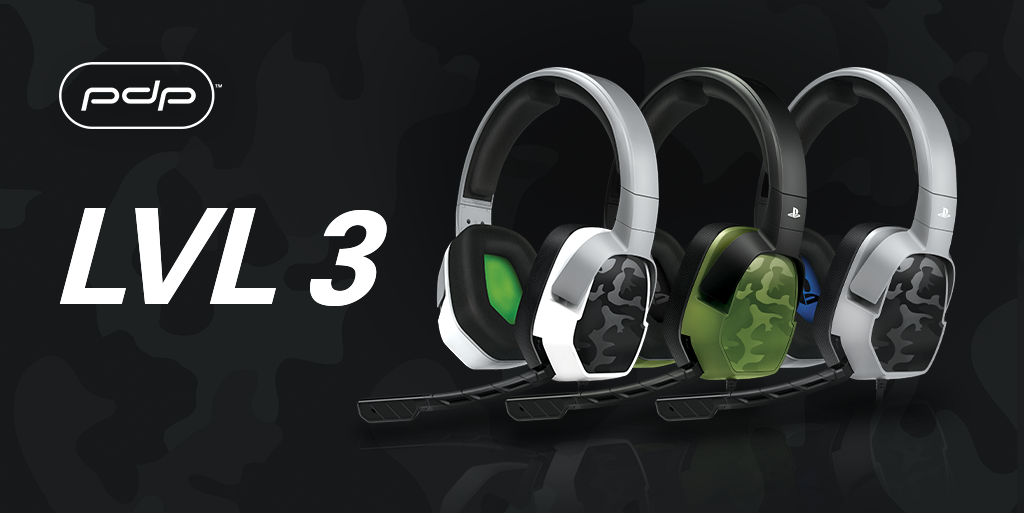 NEW! LVL 1 & LVL 3 Camo Headsets for Xbox One and PS4