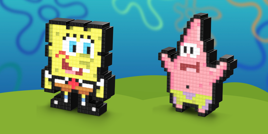 BEST. DAY. EVER. SpongeBob and Patrick Pixel Pals™ Available TODAY!