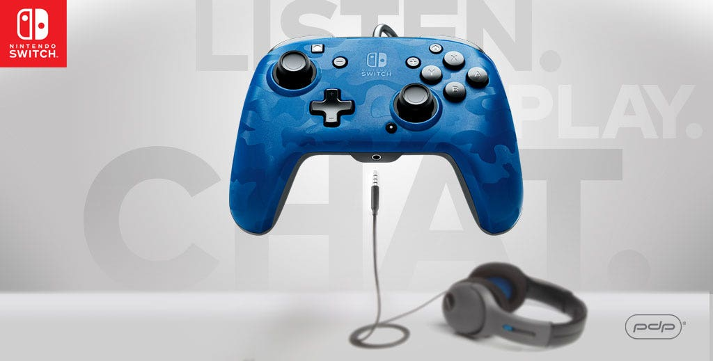 The Faceoff Deluxe+ Audio Wired Controller for Nintendo Switch Available Now!
