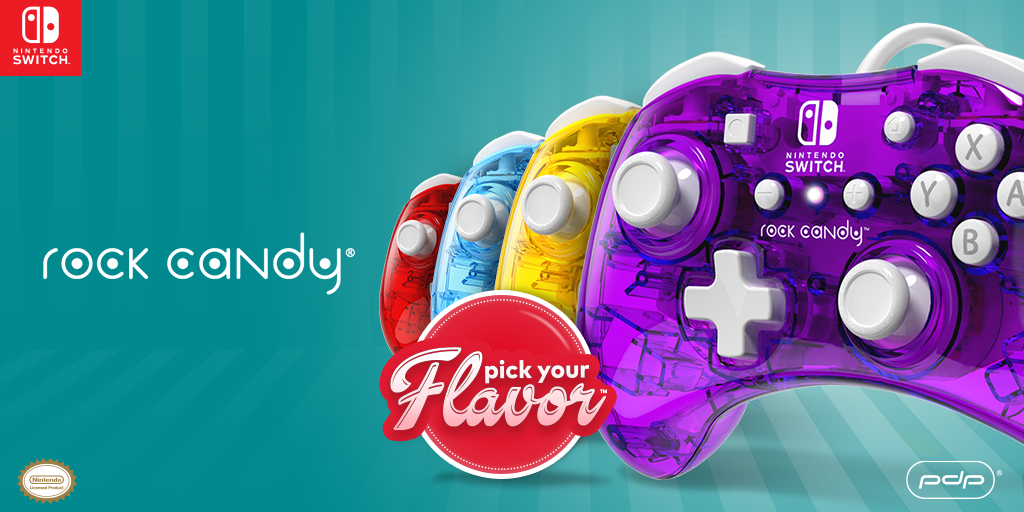 Pick Your Flavor! Rock Candy Wired Controllers for Nintendo Switch are Available Now!