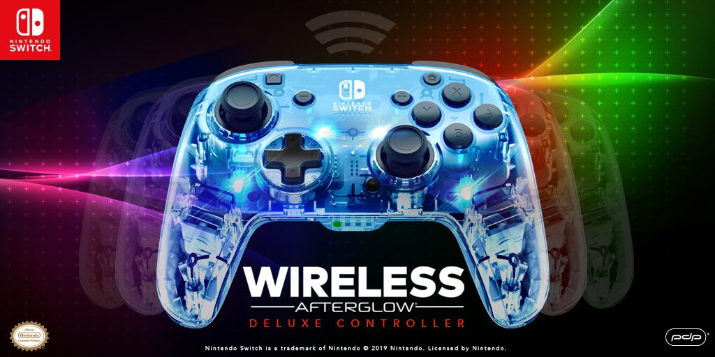 Introducing the Afterglow Wireless Deluxe Controller for Nintendo Switch!