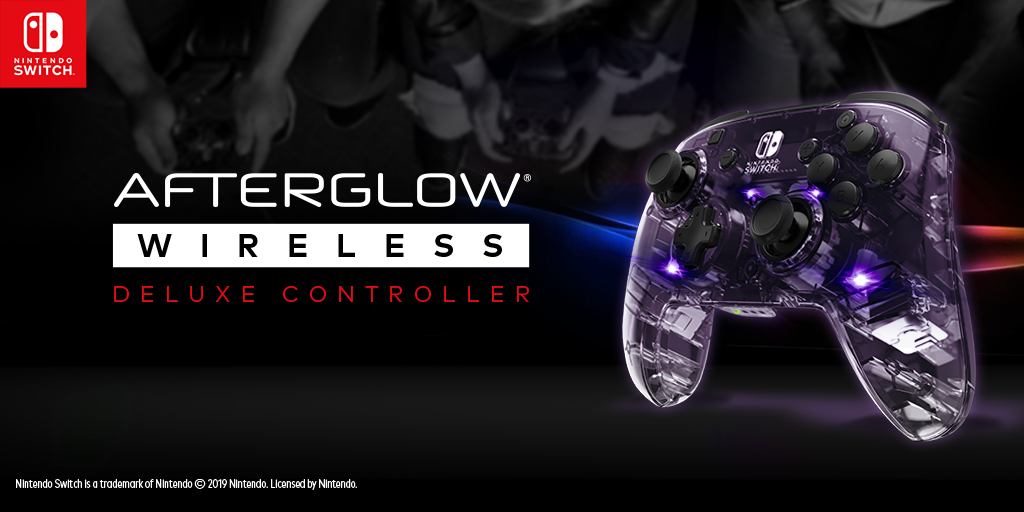 The NEW Afterglow Wireless Deluxe Controller for Nintendo Switch is Available Today!