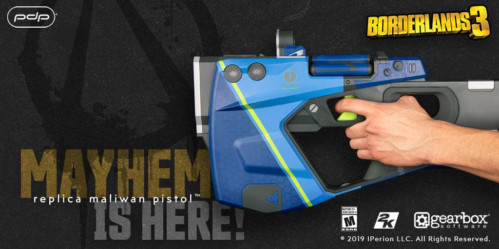 The Borderlands 3 Maliwan Pistol Replica Weapon is Available Today!