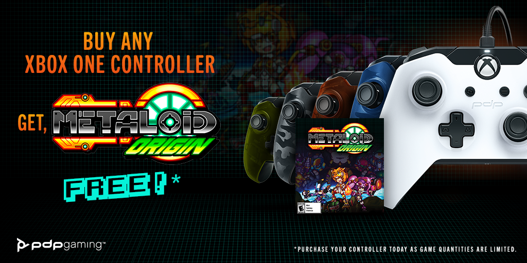 Getaloid of this! Metaloid: Origin Free with Purchase of PDP Gaming Xbox One Controllers!
