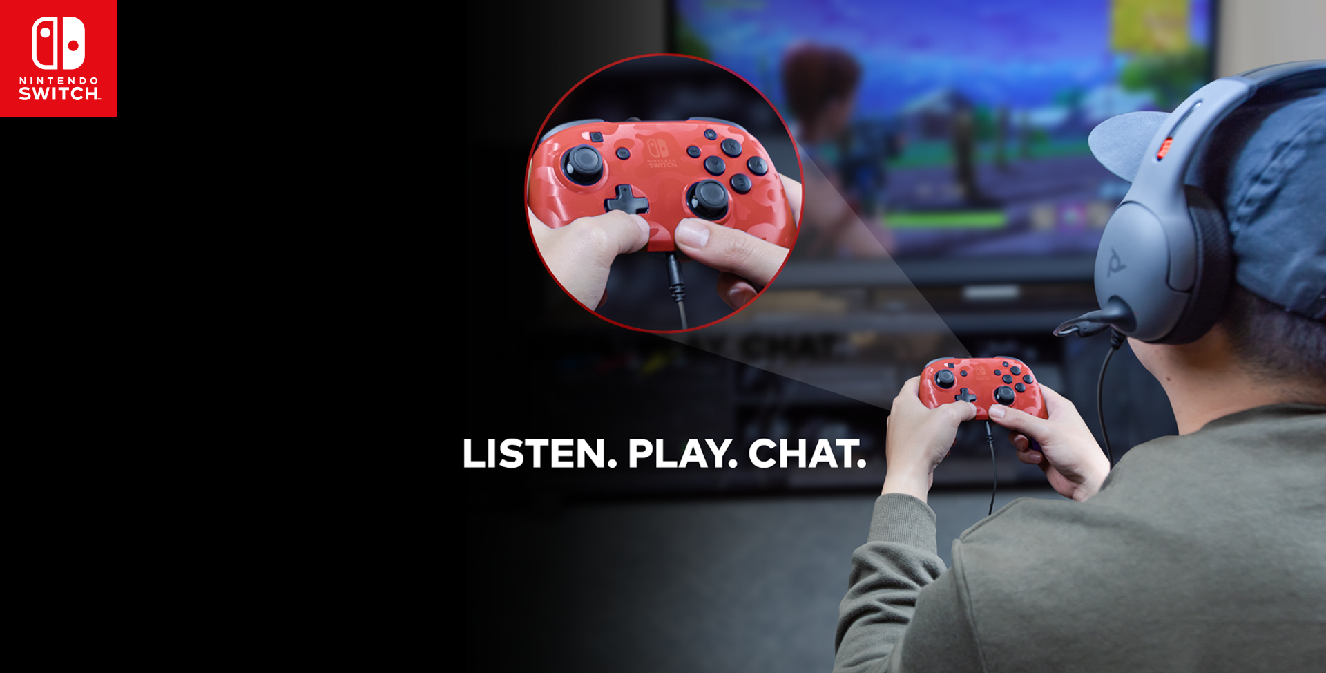 Faceoff™ Deluxe+ Audio Wired Controller