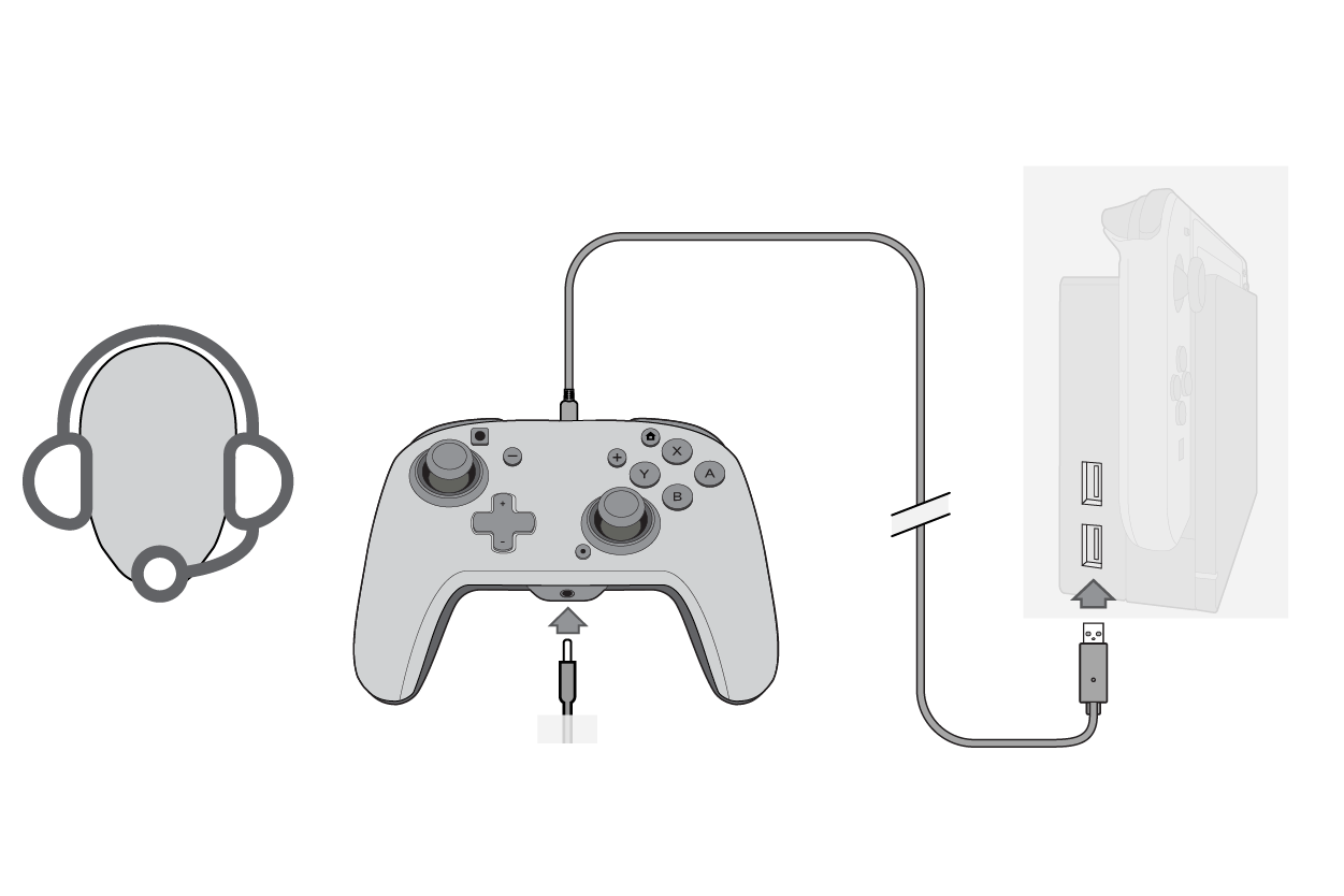 Send Audio Switch from headset plugged into the audio jack or a USB headset